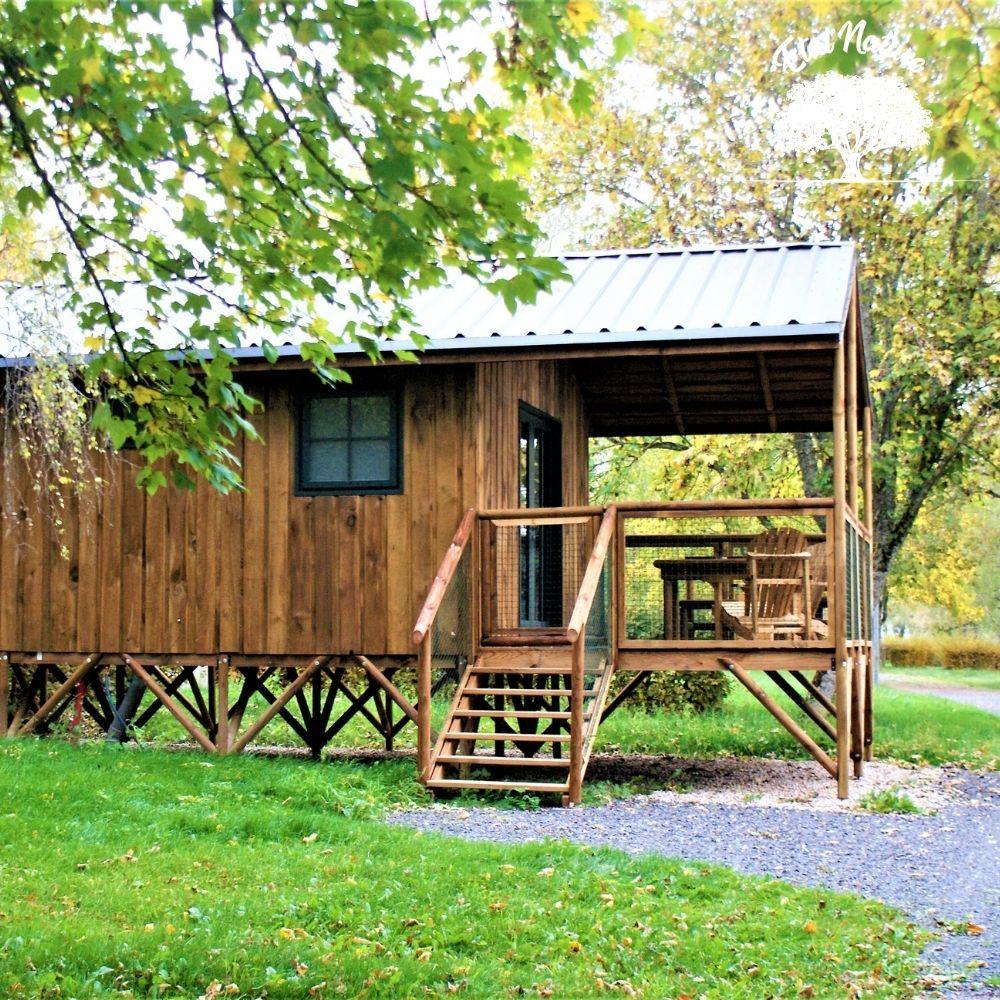 Cabane de pêcheur - cabane sur pilotis - cabane insolite en Lorraine - Etat Nature